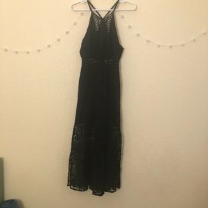 Free People Lace Maxi Dress with Cut-Outs